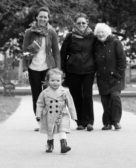 Erin and her mum, and her mum, and her mum